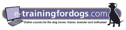 e-Training for Dogs - Online Dog Training Courses